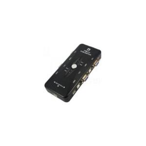 KVM Switch 4port USB + 4x USB kabl 1.5m