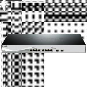 DXS-1100-10TS 10 Port 10 Gig switch including 2 SFP ports - T