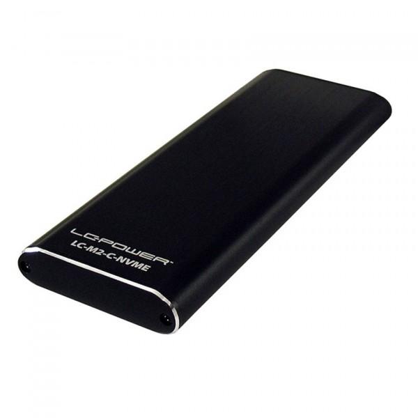 LC-M2-C-NVME M.2 SSD USB3.1 Gen.2 Type C Black
