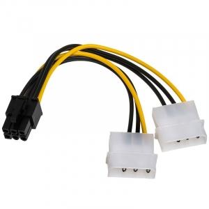 Naponski adapter za PCI-E VGA (6-pin) -2x Molex