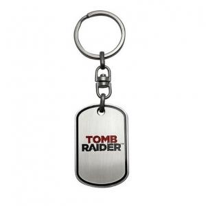 ABYKEY015 TOMB RAIDER - Metal Keychain 'Logo'