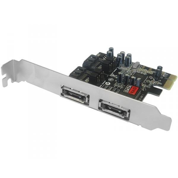PCI Express kontroler 2xSATA/2x eSATA